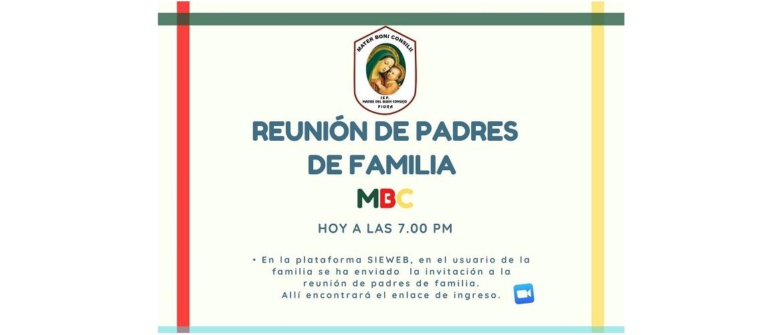 I Reunión de Padres de Familia MBC 2021