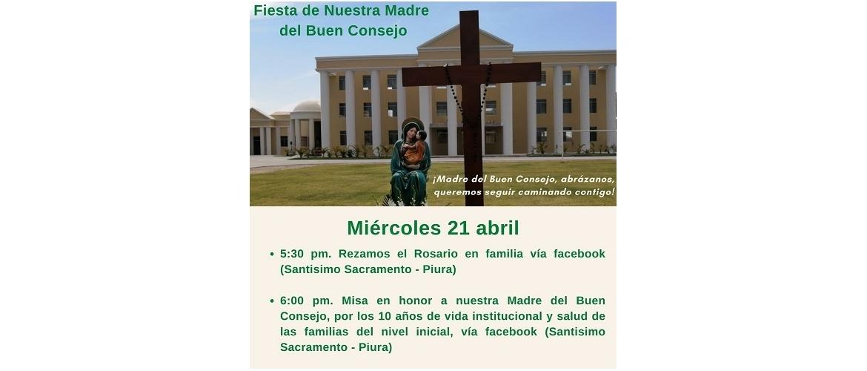 El 24 de Abril es la Fiesta de Nuestra Madre del Buen Consejo.