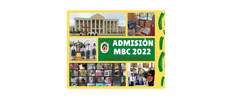 PROCESO DE ADMISIÓN MBC-2022